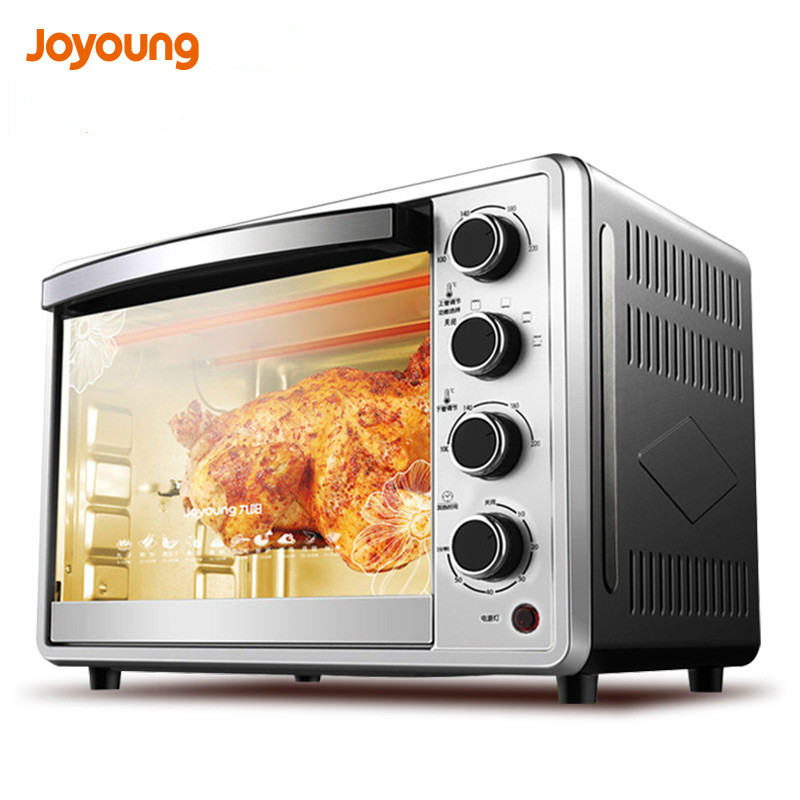 Jy02 mini 32L electric oven timing pizza oven stainless steel automatic Cake Makers for Baking with 4 Heating tube 1360W 5 c to 300 c electric heating blast drying oven with stainless steel liner and digital display