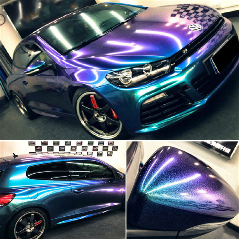 Pearl Gloss Chameleon Vinyl Car wrap styling shift blue - purple Foil Hot sale of Europe 5ft X 65ft/Roll for 1 car size