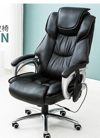 Купить с кэшбэком Boss chair. Real leather massage home computer chair. Office rotation can lie in the chair for home use..