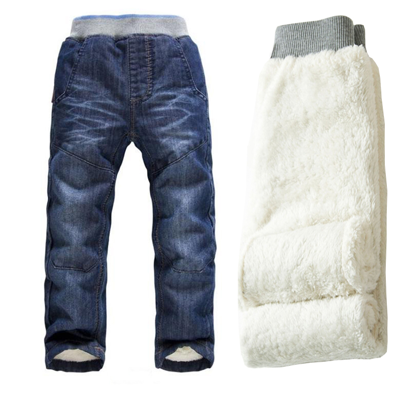 BibiCola Boys Winter Pants High Quality thick warm cashmere Trousers Baby Children Jeans Warm Velvet Pants Boys Trousers sosocoer boys jeans kids clothes winter thick warm boy cowboy pants high quality girls trousers fashion casual children costume