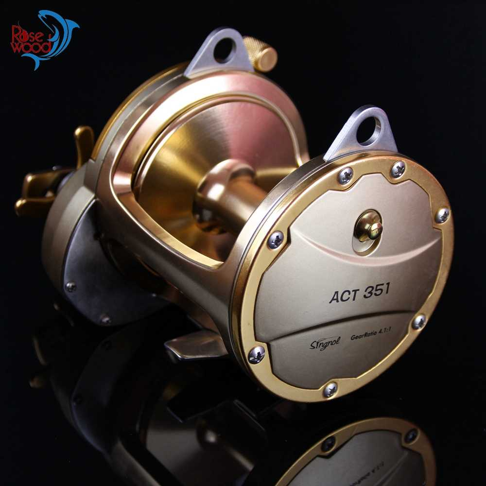 30 kg Power Act351 Volledige Metalen Trolling Vissen Rollen Zoutwater Baitcasting Voor Zeevisserij 3BB + 1RB Boot Drum Jig Reel Peche Wiel