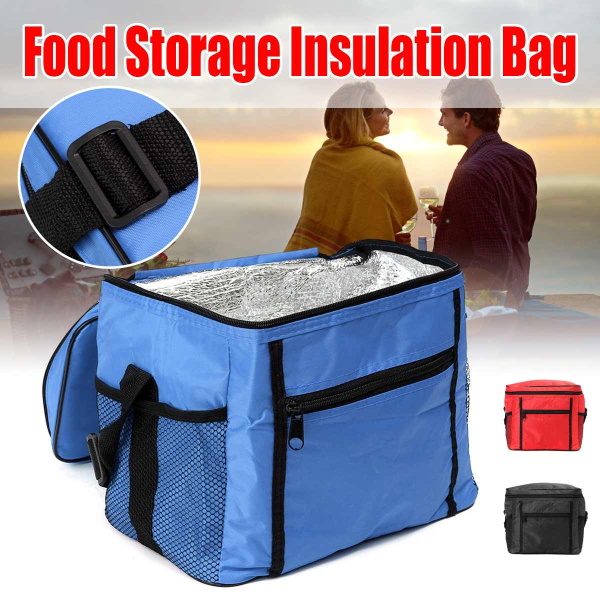 Ice Storage Bags Foldable Cooler Bag Lunch Picnic Bag Insulated Beach Food Thermal Bag Durable Portable Outdoor Boxes Free RU