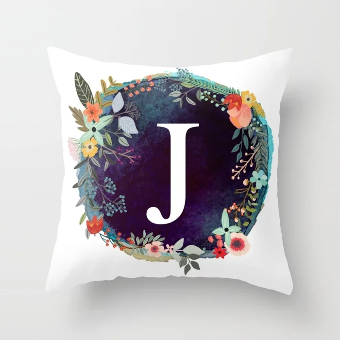 personalized-monogram-initial-letter-j-floral-wreath-artwork-pillows.webp