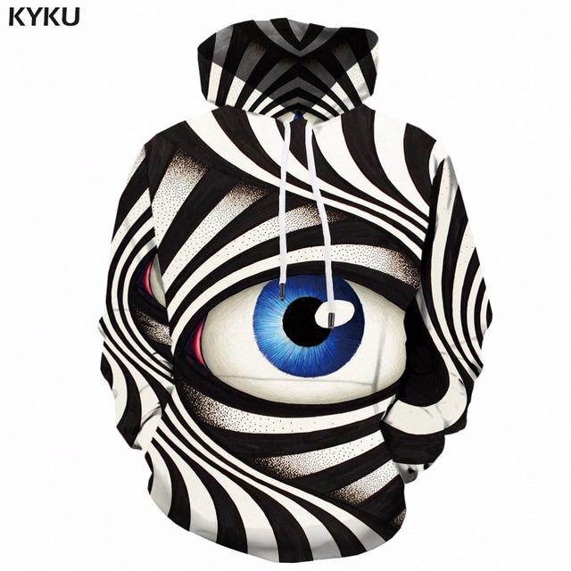 KYKU 3d Hoodies Men Psychedelic Hoodie Punk Rock Clothes Colorful Printed Sweatshirt Hip Hop Mens Clothing Autumn Hooded New