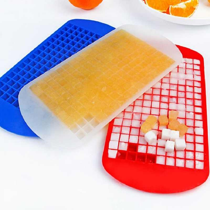 11 Colors 160 Grids Silicone Ice Cube Eco-Friendly Cavity Tray Mini Ice Cubes Small Fruits Mold  Ice Maker for Ice Cube Making