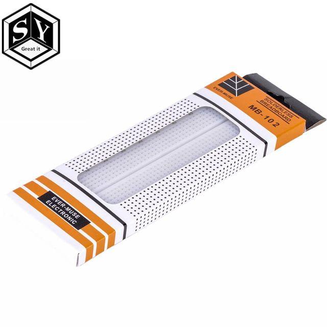 1PCS Great IT 830 points Breadboard MB-102 Solderless PCB test Board 400 Hole Breadboard MB102 Test Develop DIY
