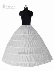 Image 2 - Ball Gown 6 Hoop Petticoats Underskirt Full Crinoline For Bridal Wedding Dress Accessories Free Shipping