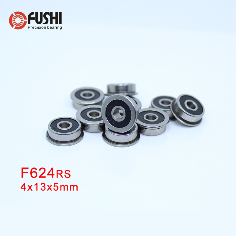 5 PCS BLACK Flange Rubber Sealed Ball Bearing F694RS F694-2RS 4x11x4 mm
