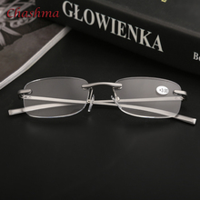 Chashma Brand Rimless Eyewear Aluminum Magnesium Men Read Glasses Clear Lenses Anti Resistance Reading Female