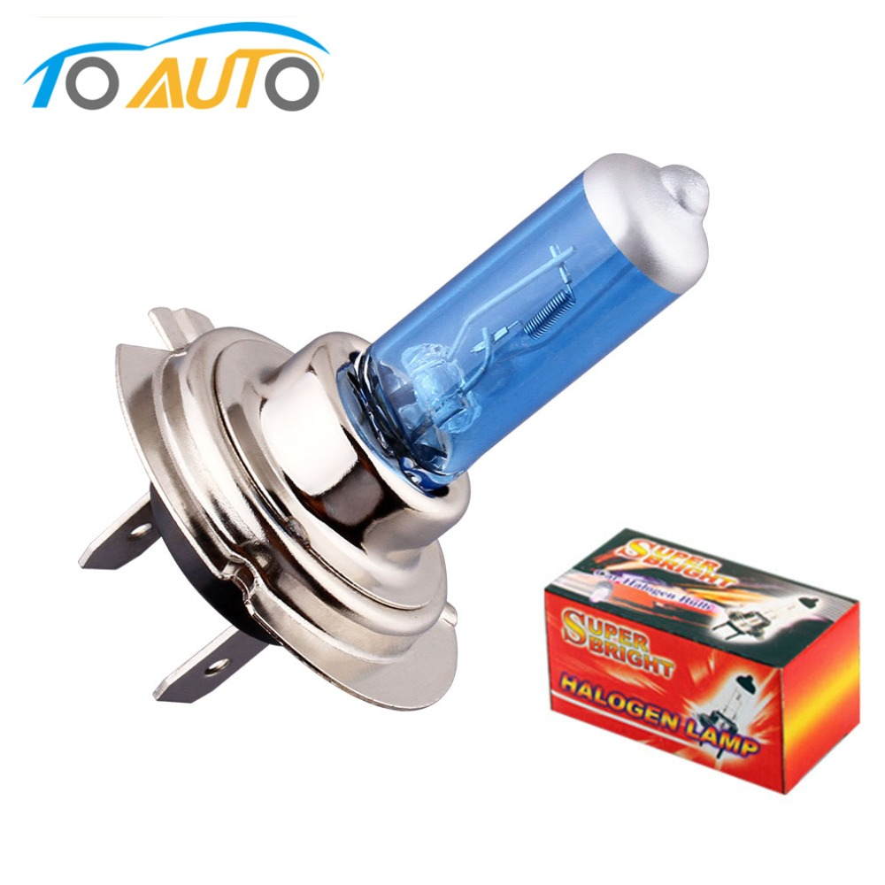 1pcs <font><b>H7</b></font> 55W 12V <font><b>Halogen</b></font> Bulb 6000K Super Bright <font><b>White</b></font> Fog Lights Car Headlight Lamp Car Light Source Car Styling parking image