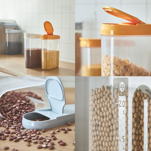 Image 4 - פלסטיק מתקן אחסון קופסות שימור מטבח מזון גרגרים אורז סיר מיכל מטבח אורז אחסון תיבת קמח תבואה אחסון