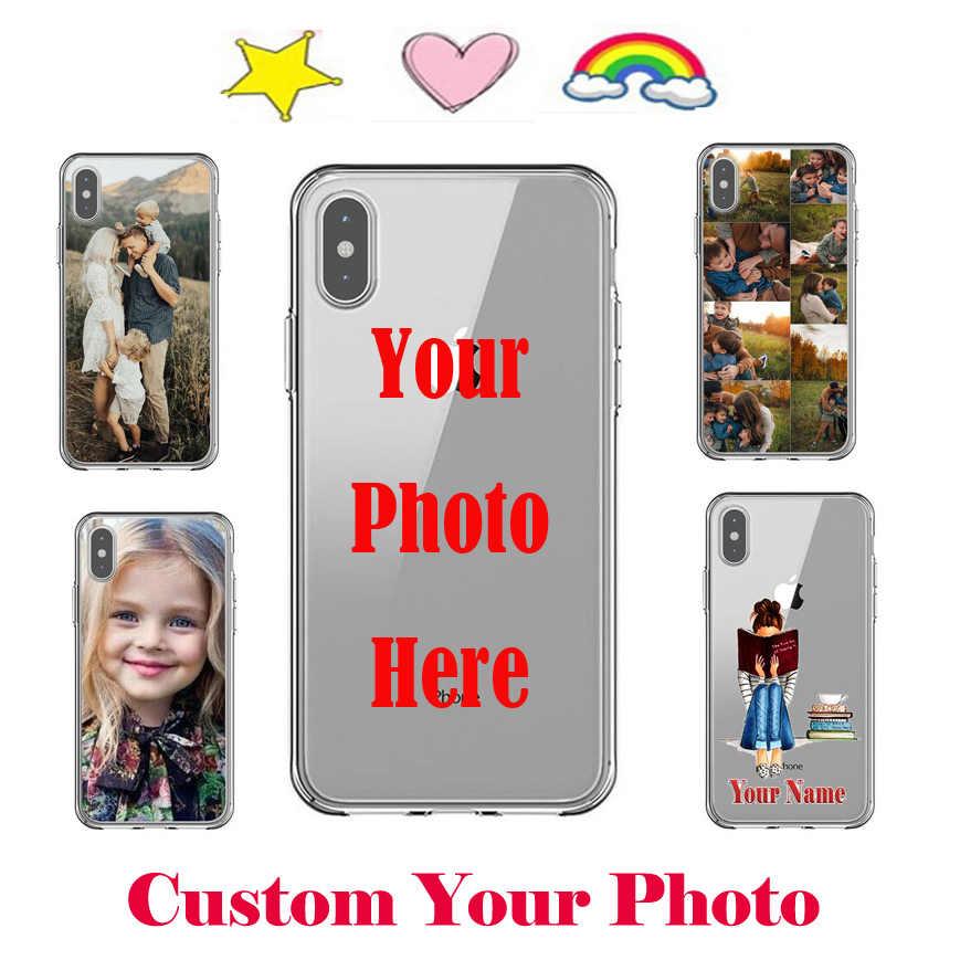DIY индивидуальный чехол для iPhone X 6 6S 7 8 Plus 10 XR XS Max индивидуальное изображение персональный чехол Coque подарок Cus603