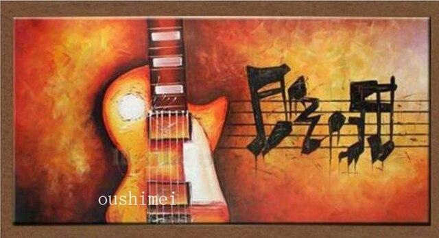 Moderne Muziek Woonkamer : Handgemaakte moderne foto op canvas muziek olieverf voor woonkamer