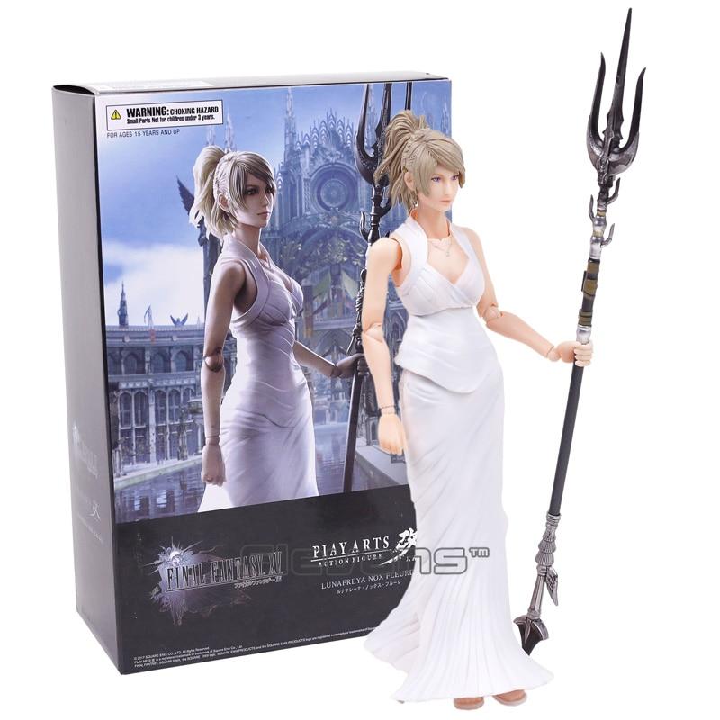 Play Arts KAI Final Fantasy XV 15 Lunafreya Nox Fleuret PVC Action Figure Collectible Model Toy 25cm