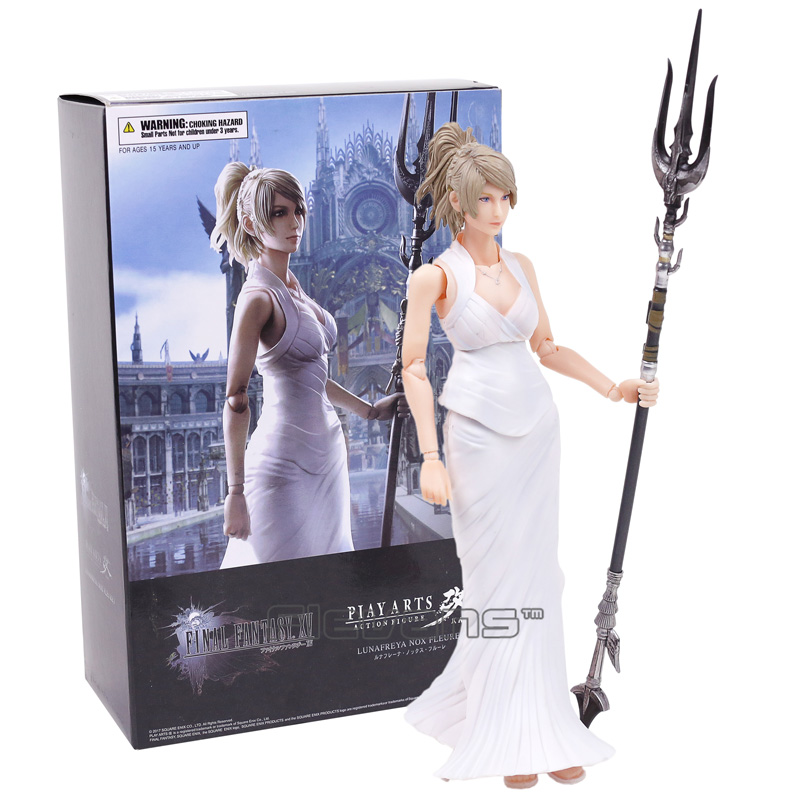 Play Arts KAI Final Fantasy XV 15 Lunafreya Nox Fleuret PVC Action Figure Collectible Model Toy 25cm neca marvel legends venom pvc action figure collectible model toy 7 18cm kt3137