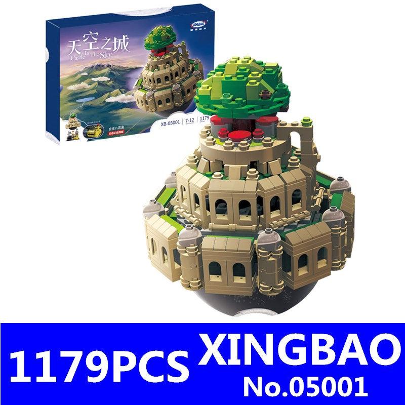 XingBao 05001 1179Pcs City in The Sky Set Genuine Creative MOC Series Educational Building Blocks Bricks Model Toys for Children xingbao 05001 1179pcs city in the sky set genuine creative moc series educational building blocks bricks model toys for children