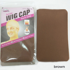 Image 4 - 60PCS(30Packs) Wig Caps For Making Wigs Stocking Wig Cap Snood Nylon Stretch Mesh Net 2Pcs/Pack In 7 Colors Weaving Cap