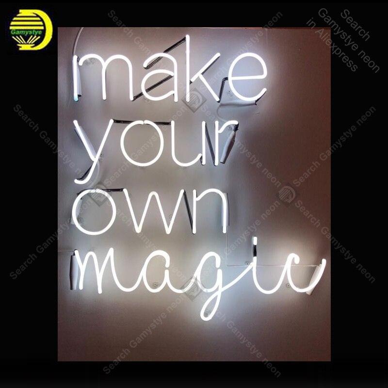 Enseigne au néon pour faire votre propre affichage magique lampes au néon véritable Tube de verre décorer maison chambre publicité néon lumière personnalisée avec panneau