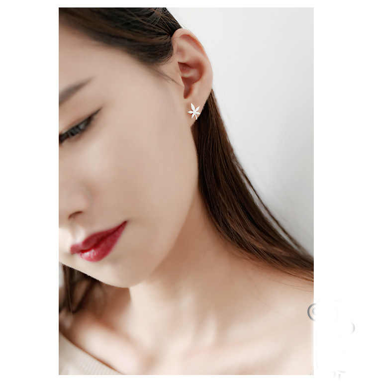 2018 mode 100% 925 bijoux en argent Sterling feuilles d'érable boucles d'oreilles pour femmes Sterling-argent-bijoux EH546