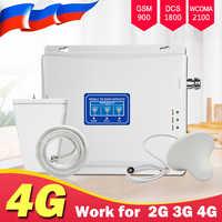 900 1800 2100 Cellular Amplifier Booster Repeater gsm 2g UMTS 3g 4g lte 1800mhz Mobile Cell Phone Signal Booster Amplifier Kit