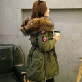20cm Real  Large Raccoon Fur Collar Winter Jacket Women 2016 Winter Duck Down Jacket  Parka Army Green  Thickening Coat