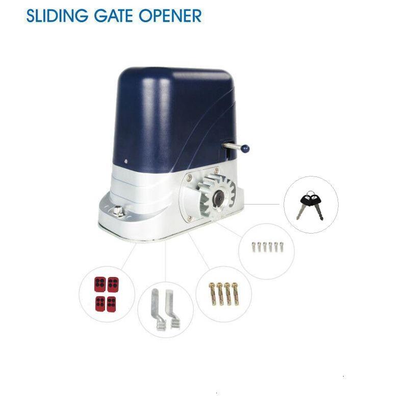 24V DC 240V 110Velectrical automatic sliding gate opener motor operator to load 800kg with 4 remote controllers automatic sliding gate opener for home automation 1000kg