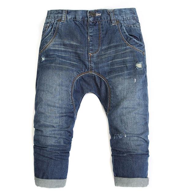 Otoño Muchachos pantalones vaqueros Del Bebé pantalones niños Hole holgados pantalones de Los Niños al por mayor