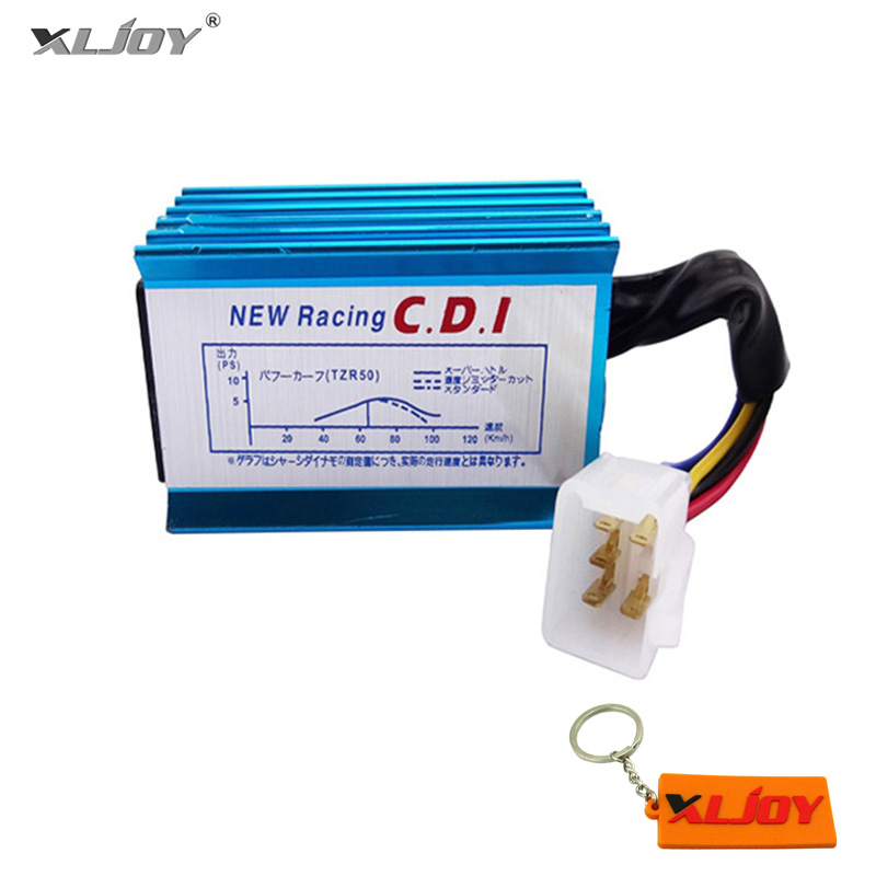 XLJOY Blue Racing AC CDI Ignition Box 5 Pins For 50cc 110cc 125cc ATV Quad Pit Dirt Bike Go Kart Moped Scooter Motorcycle