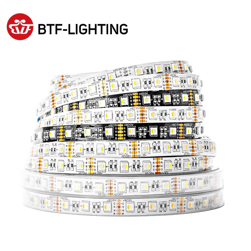 5 m 5050 rgbw luzes de tira led rgbww tiras led iluminação 4 em 1 rgbww tira conduzida rgbw 5pin 60leds/m 12v/24v impermeável cor mista