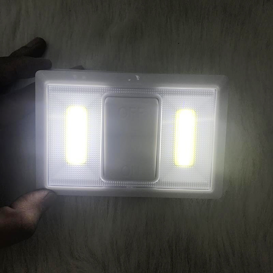 DC4.5V 2COB LED Night Light Wireless Wall Night Light Magnetic Battery Operated For Emergency Light Kitchen Garage Closet Lamp