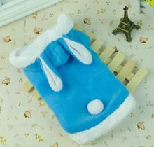 3 colors Cute dog/cat pet coat Pink Dog Warm Coats Rabbit Clothing Soft Pets Dogs Winter Clothes Puppy Outwear