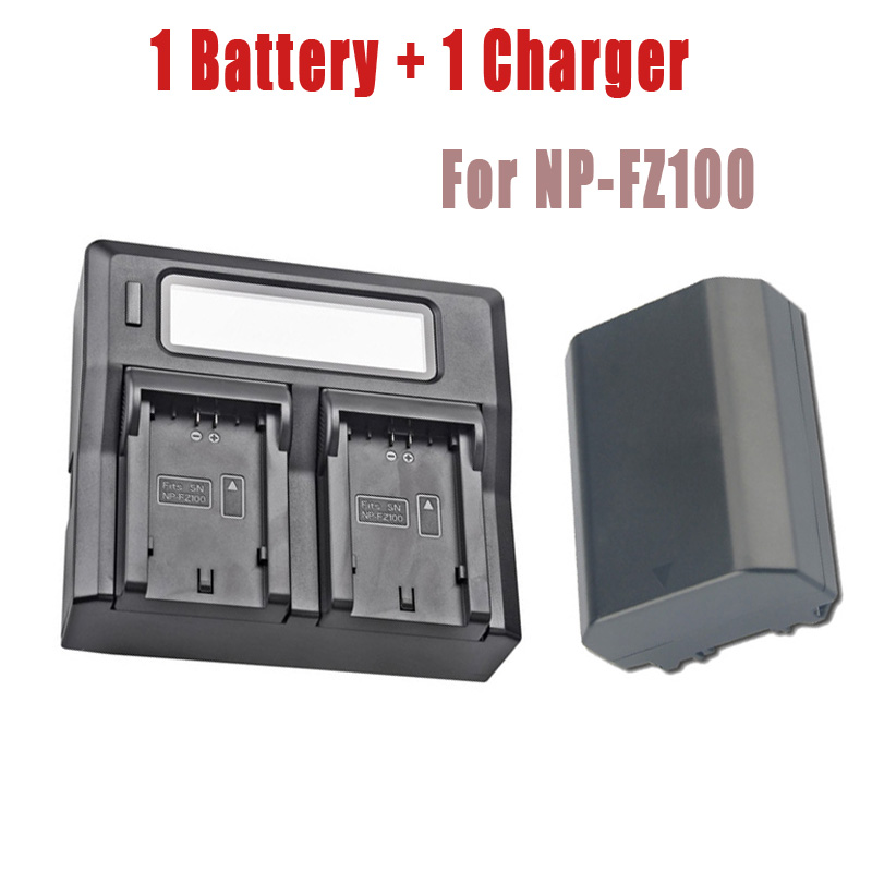 1x 2280mAh NP-FZ100 NPFZ100 NP FZ100 Battery + Dual USB Charger for Sony BC-QZ1 Alpha 9 9R A9R 9S ILCE-9 A7R A7 III ILCE-7M3 3x 2280mah np fz100 npfz100 np fz100 battery for sony a9 a9r 9s bc qz1 alpha 9 ilce 9 a7r ilce 7rm3 a7 iii ilce 7m3 ilce 7m3k