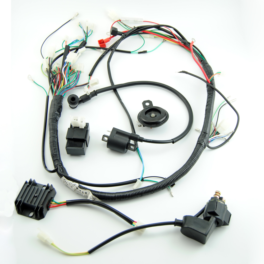 zongshen loncin lifan 150cc atv gy6 quad full electric parts wire cable horn in motorbike ingition [ 1024 x 1024 Pixel ]