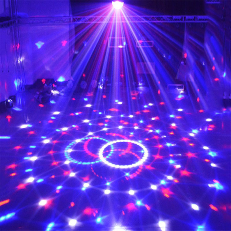 Tanbaby AC110-240V Sound Control Crystal Magic Ball DMX Stage Light for Disco Club DJ Bar Christmas Party Laser Projector rg mini 3 lens 24 patterns led laser projector stage lighting effect 3w blue for dj disco party club laser