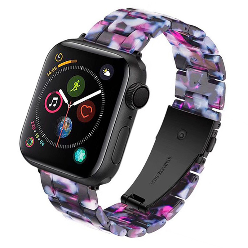 New Fashion Color Resin Strap for Apple Watch Band Series 4 3 2 1 Lightweight Bracelet for iWatch 40/44/38/42mm Wrist Belt цвета apple watch 4