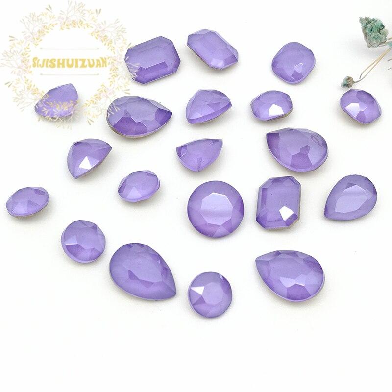 Лучшие! Смешивание мокко лотоса фиолетовая форма и размеры стеклянные кристаллы, Стразы DIY аксессуары для одежды и ногтей Бесплатная доставка|Стразы|   | АлиЭкспресс