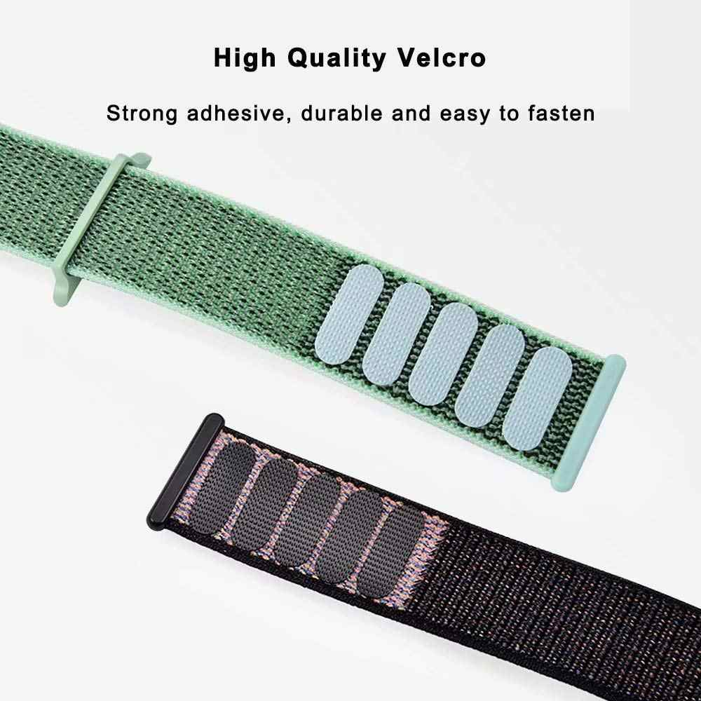 2019 New Nylon Sport Loop band for Apple Watch Series 4 44mm 40mm Watchstrap Bracelet Band for iwatch 4 44mm 42mm 38mm 3 2 Hyper