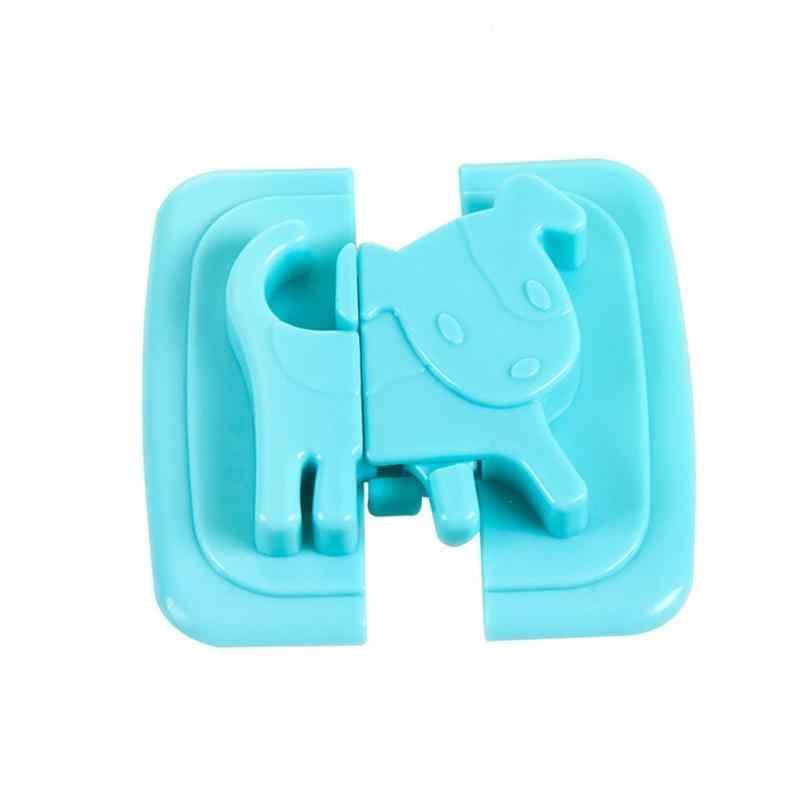 2 ชิ้นลูกสุนัขรูปร่างล็อคความปลอดภัยสำหรับตู้เย็นประตูเด็กปลอดภัยจากเด็กล็อคปราสาทความปลอดภัย Blocker กุญแจ D2