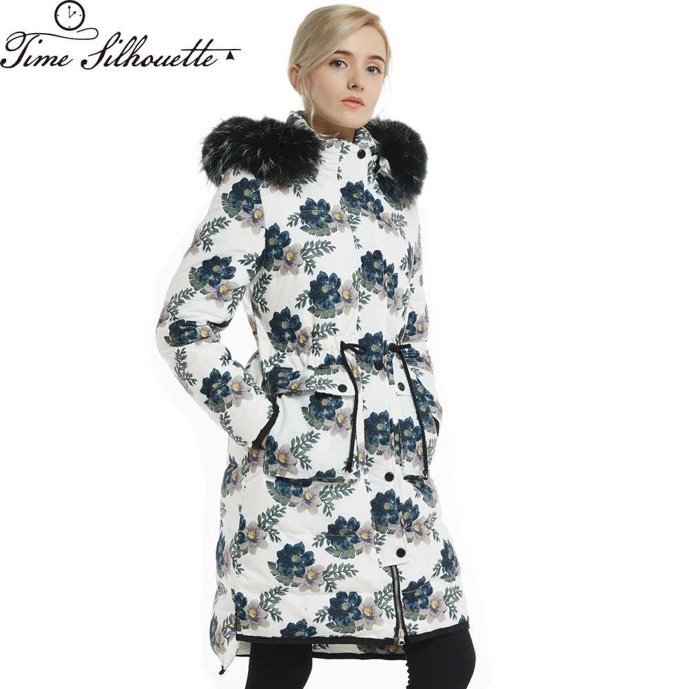 Распродажа женские куртки брендовые Длинные пуховики женские парки модные цветочные Doudoune Femme Chaqueta Mujer L211