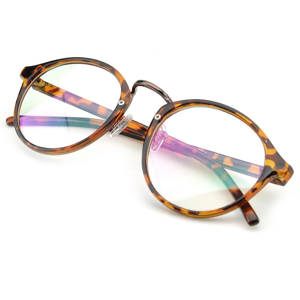 PenSee Vintage Inspired Eyeglasses Frames Round Circle Clear Lens ...