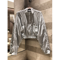 Pentagram invisible jacket space silver gray reflective windproof sun wearing women 2019 spring casual sportswear