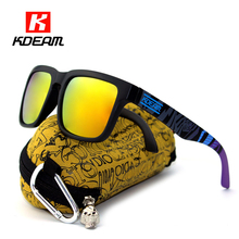 Sport Polarized Sunglasses Men Brand Designer Sunglass oculos de sol Sun Glasses Women With All-purpose Box KDEAM CE
