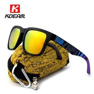 7200bc63240 Sport Polarized Sunglasses Men Brand Designer Sunglass Mirrored UV400 Sun  Glasses Women With All-purpose Box KDEAM CE