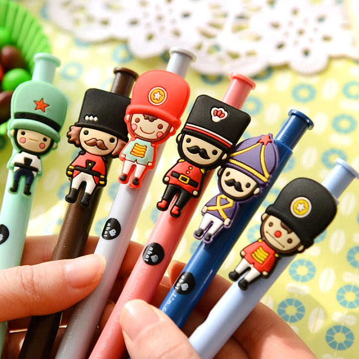 6X Cute Kawaii London Soldier Gel Pen Writing Signing Pen Stationery School Office Supply Student Gift