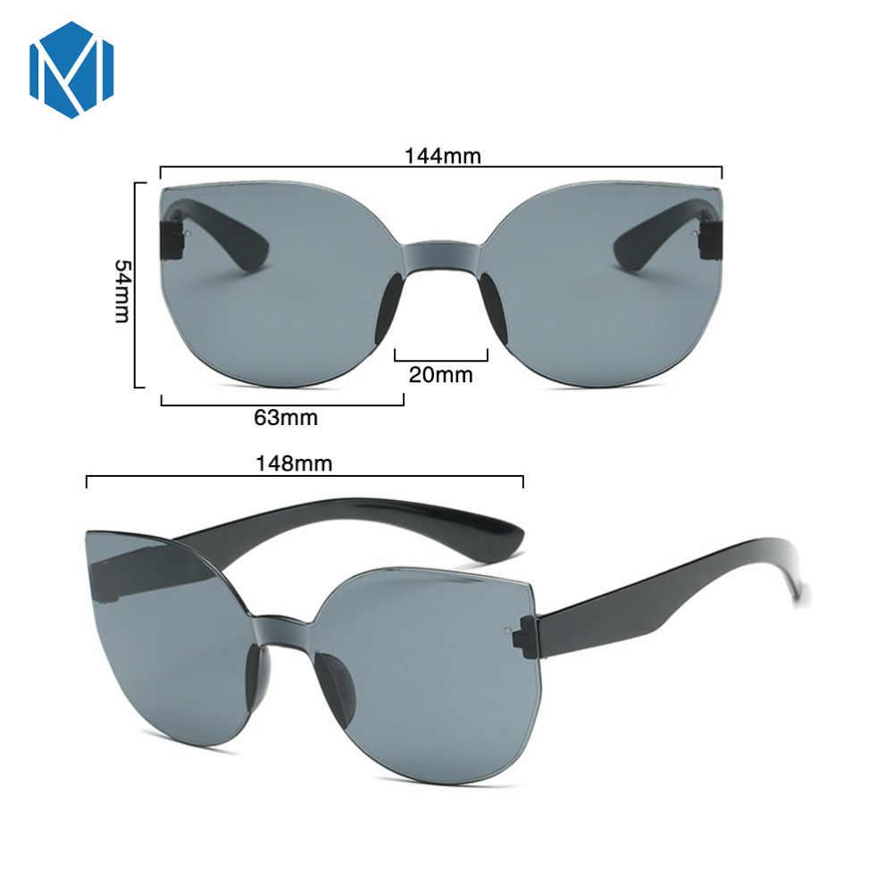 MISM classique sans monture ronde miroir lunettes de soleil femmes marque de luxe Design oeil de chat lunettes de soleil hommes/lunettes pour femme gafas de sol mujer