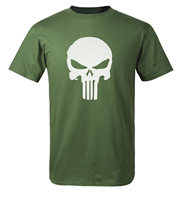 Hip Hop Streetwear The Punisher Skull T Shirt Men 2018 Summer Men Short Sleeve Shirts Men