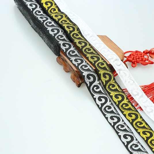 2 cm 20 mét 7/8 'Tốt Đồ Nư Bạc Vàng Ren Atistic Dân Tộc Gợn Sóng Nước Cỏ Trang Phục May Jacquard Quốc Gia vải Băng