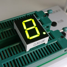 10pcs 7 segment Common Anode 1 Bit digital Tube 0.8in. yellow green LED Display 7 segmentos LED Digital tube 10P