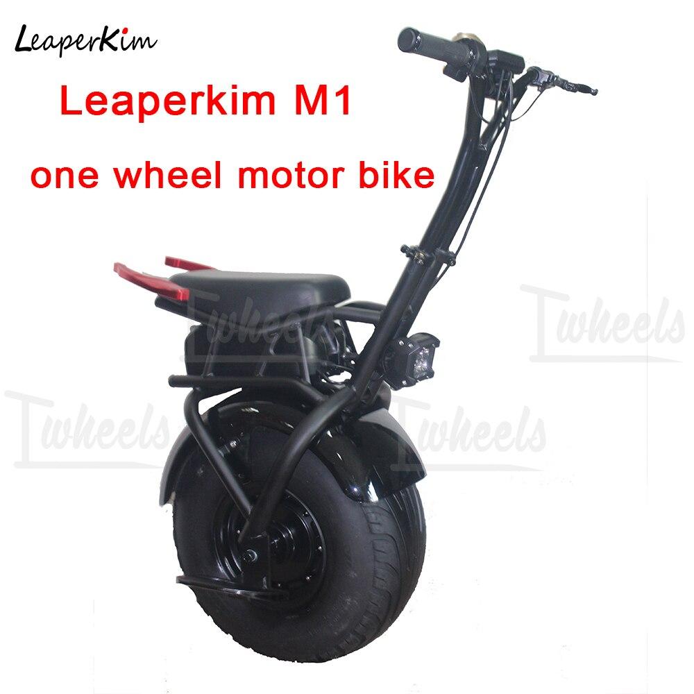 LeaperKim M1 monociclo elétrico motocicleta elétrica grande pneu 1000 W motor única moto roda de Auto-Equilíbrio De scooter