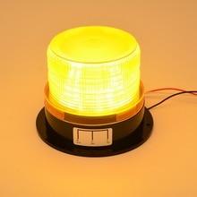 12 В-24 В автомобиля светодиодный мигает Строб маяк аварийного Предупреждение свет лампы желтый, мигает Освещение автомобиля светодиодный аварийного свет Маяка лампа